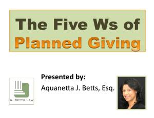 Planned Giving - ebook