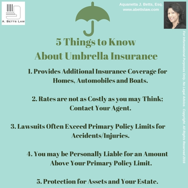 5 Things: Umbrella Insurance