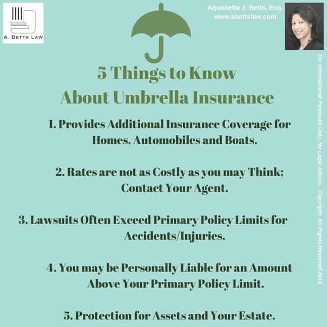 5 Things: Umbrella Insurance