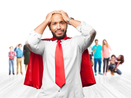 Man With Super Hero Cape - Oh No Mistake Pitfall Image 25Jul16 shutterstock_424968733