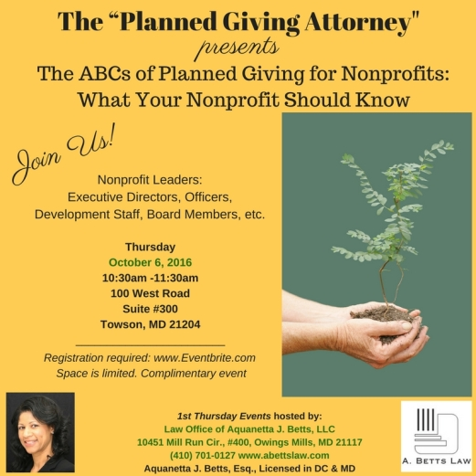 The ABCs of Planned Giving for Nonprofits: What Your CHurch Should Know 12Aug16