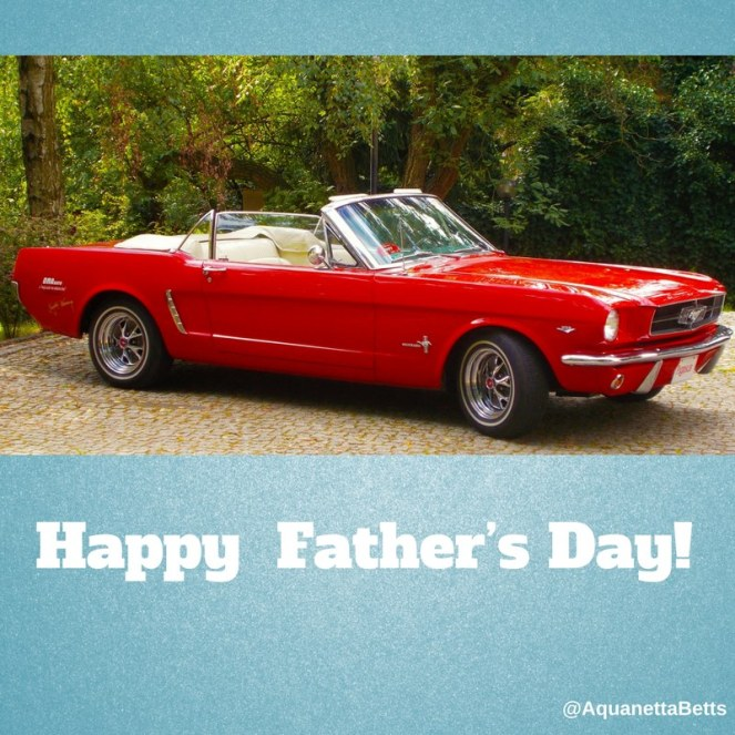 Red Convertible Mustang Happy Father's Day Picture